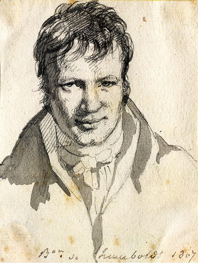 Portrait Alexander von Humboldt aus dem Jahre 1807, Berlin.