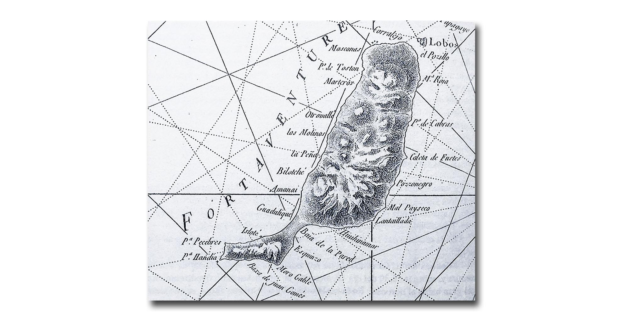 Die ersten exakt vermessenen Karten des kanarischen Archipels erstellt vom, französischer Mathematiker und Seemann Jean-Charles de Borda aus dem Jahre 1780.