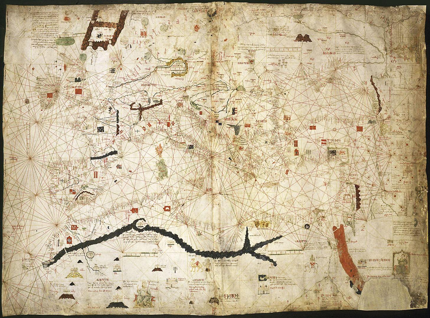 1339 –die Weltkarte des Angelino Dulcert.