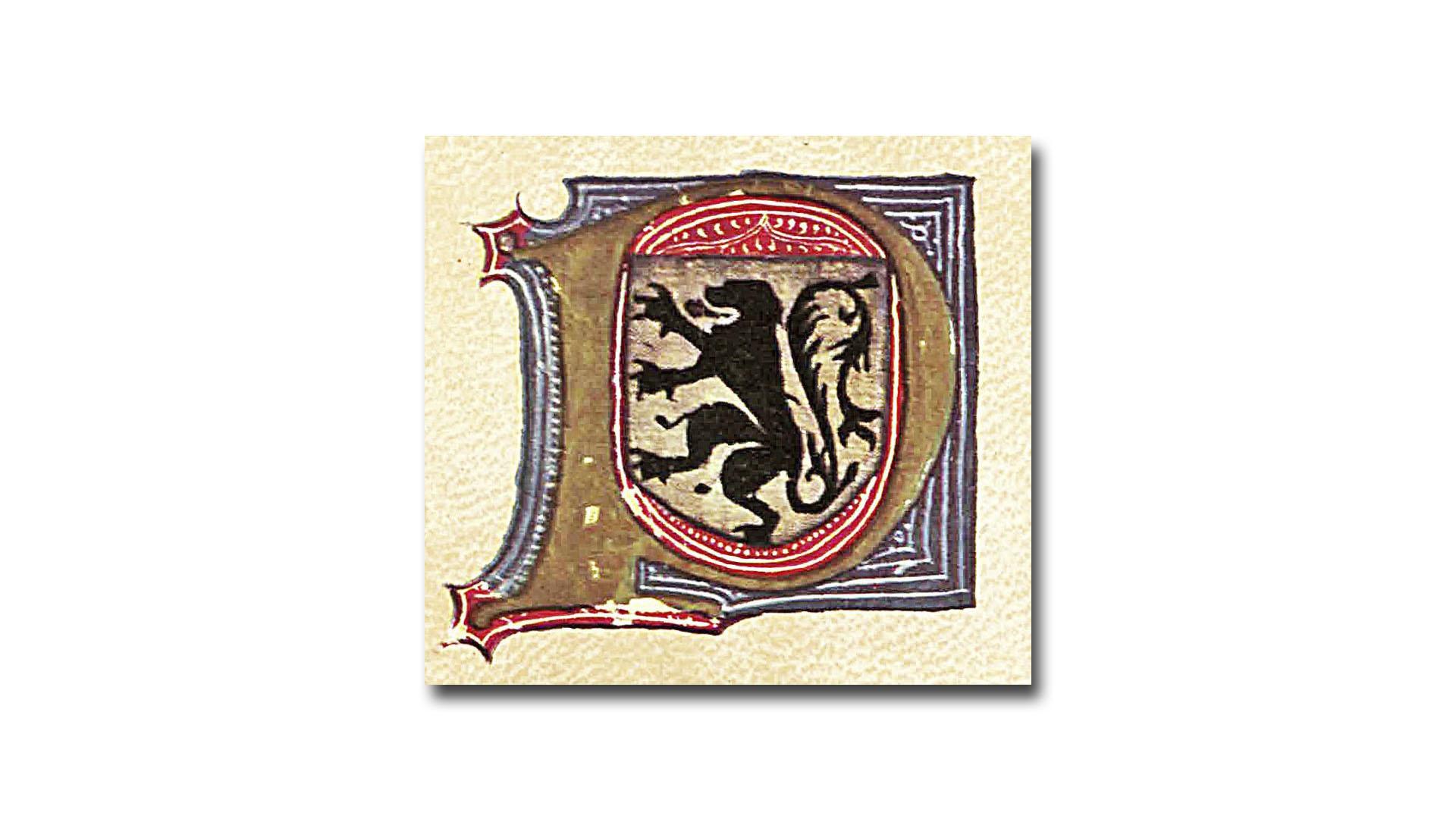 Das Wappen des Jean de Béthencourt.