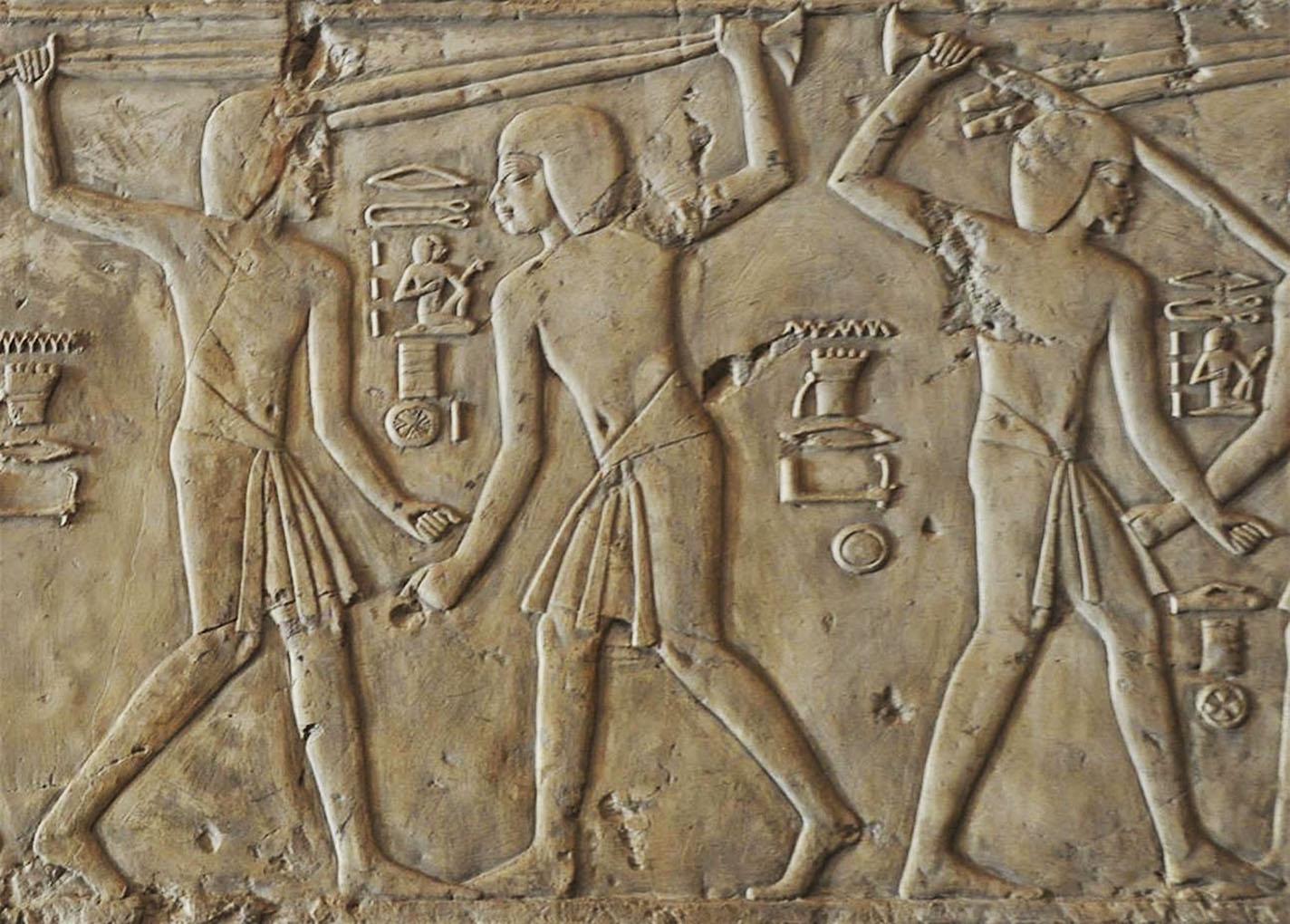 Tahtib der ägyptische Stockkampf.