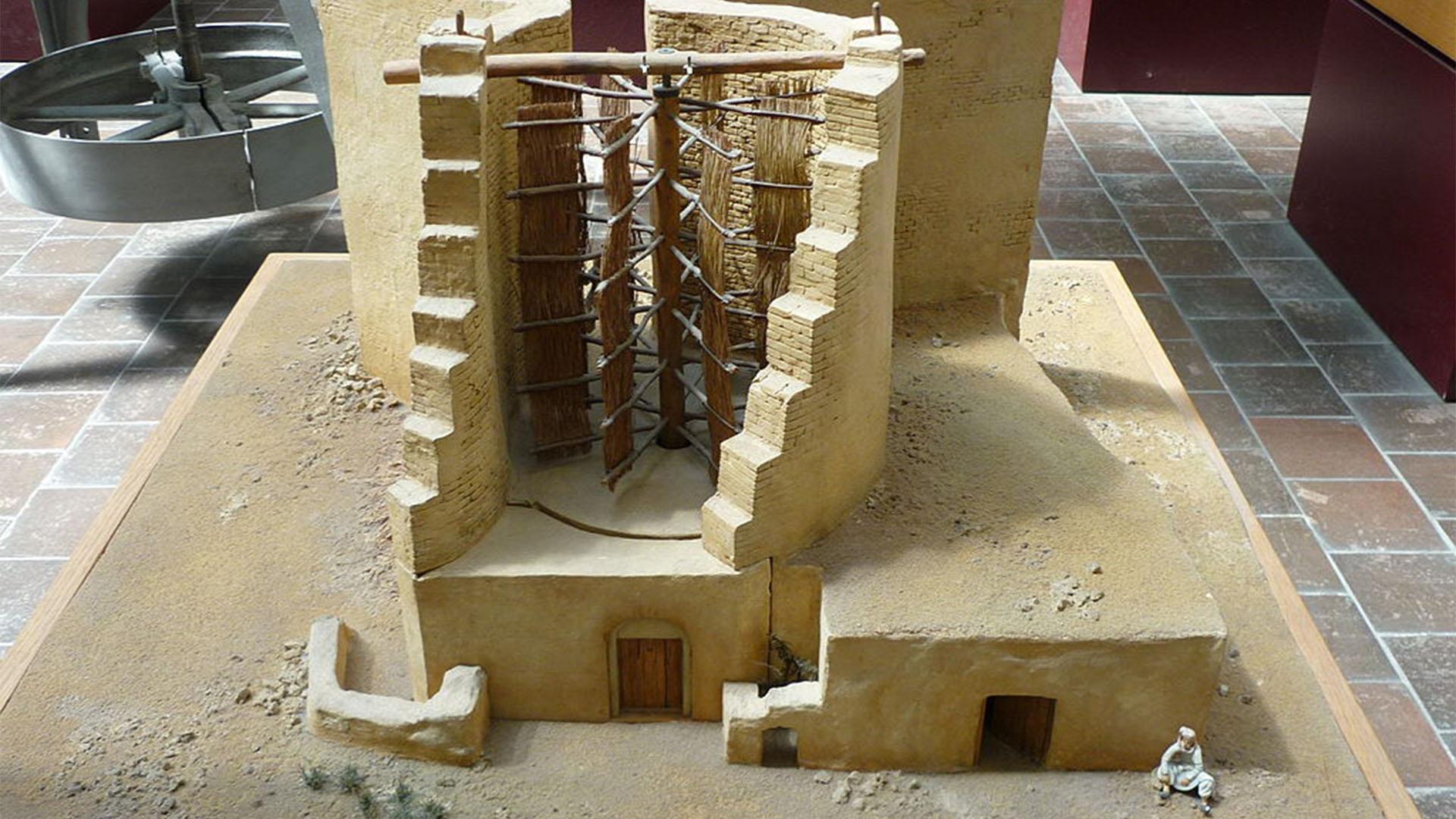 Konzept der persischen Windmühle.