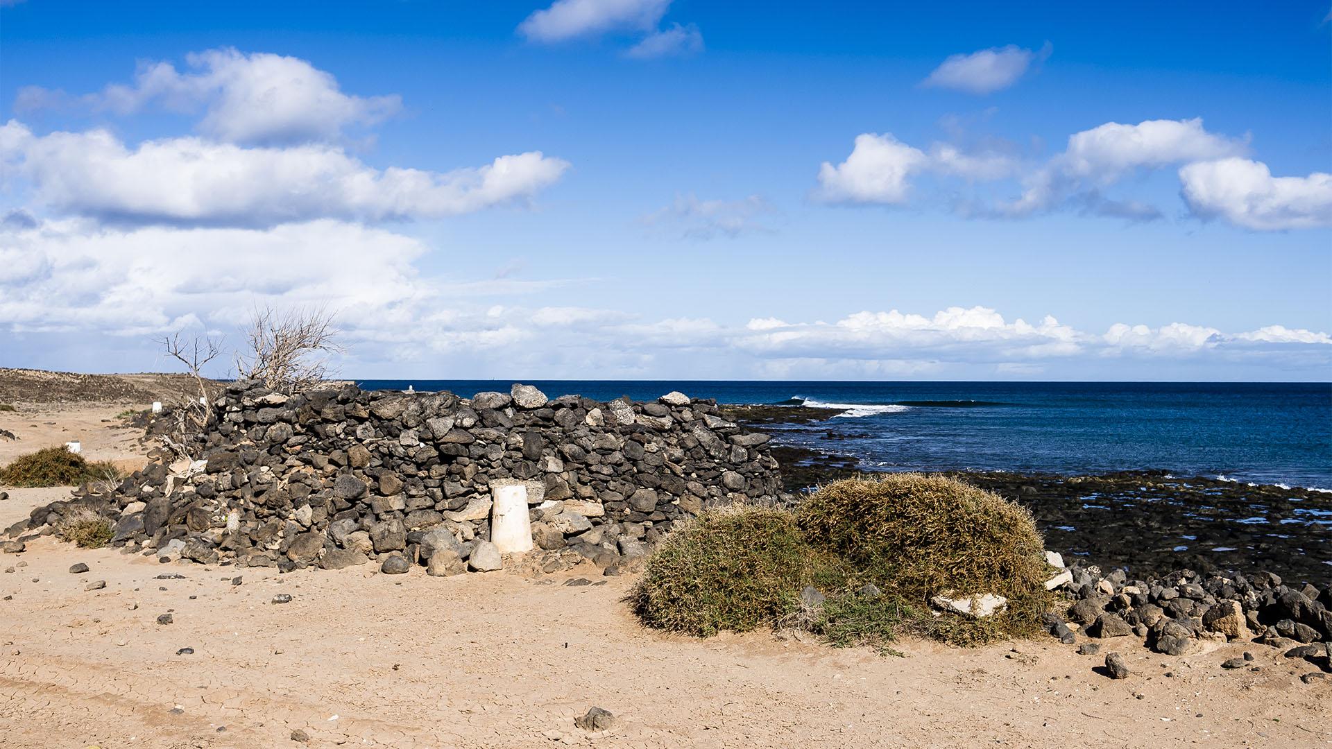Der Strand Playita de las Arenas im Osten von Puerto del Rosario Fuerteventura.