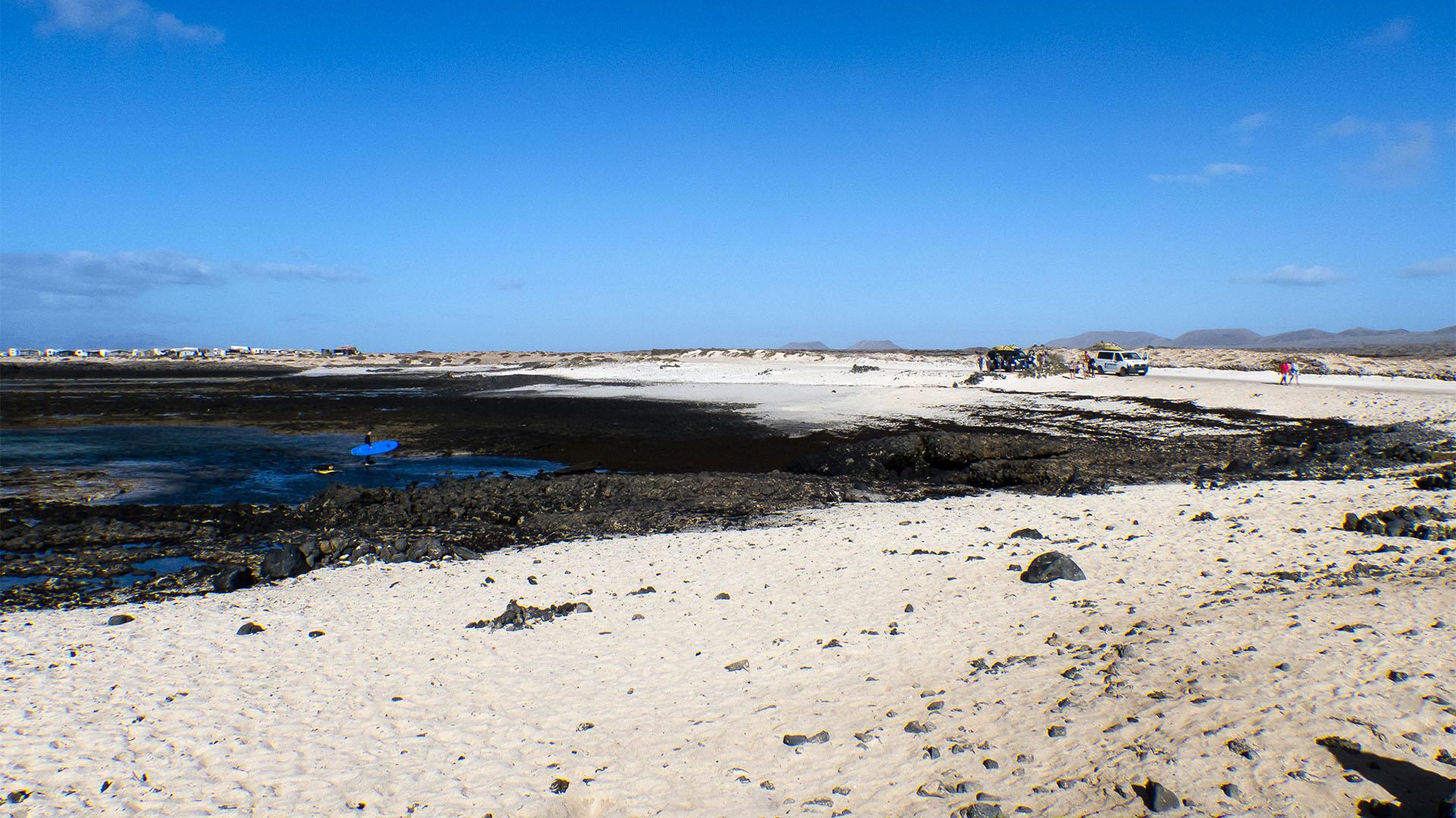 Die Strände von Fuerteventura: Caleta de Punta Aguda –Punta Gorda + Punta Aguda.