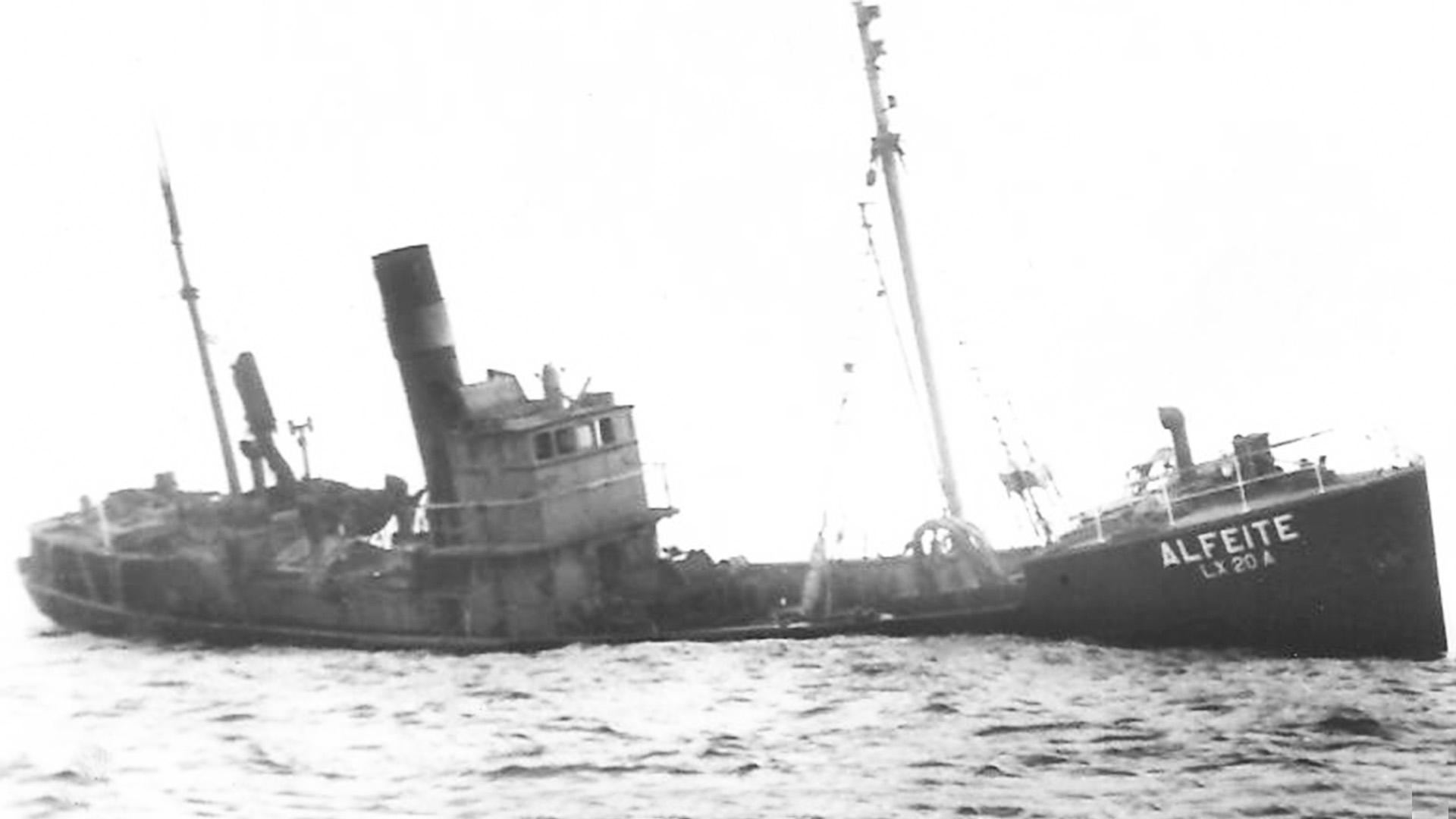 Schiffswrack der Alfeite am Playa del Castillo Caleta de Fuste.