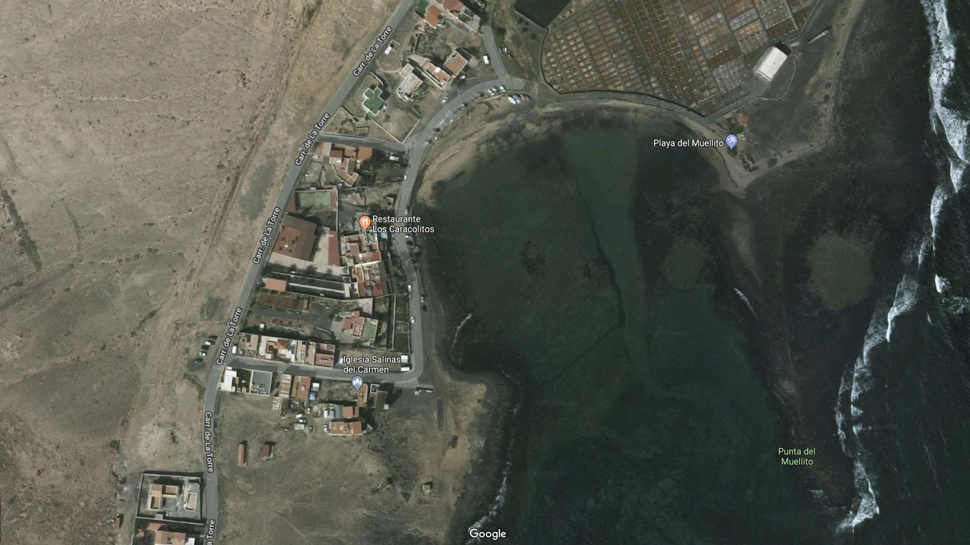 Strände von Fuerteventura: Playa del Muellito Salinas del Carmen.