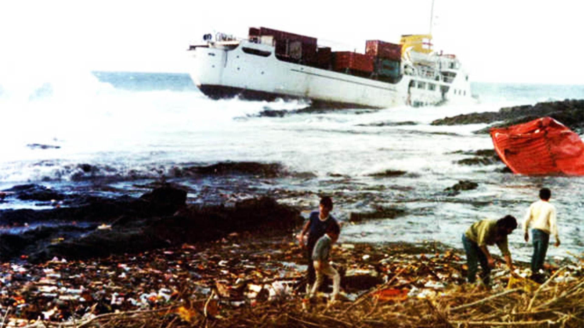 Schiffswrack der Júcar am Playa Valle de Santa Inés Fuerteventura.