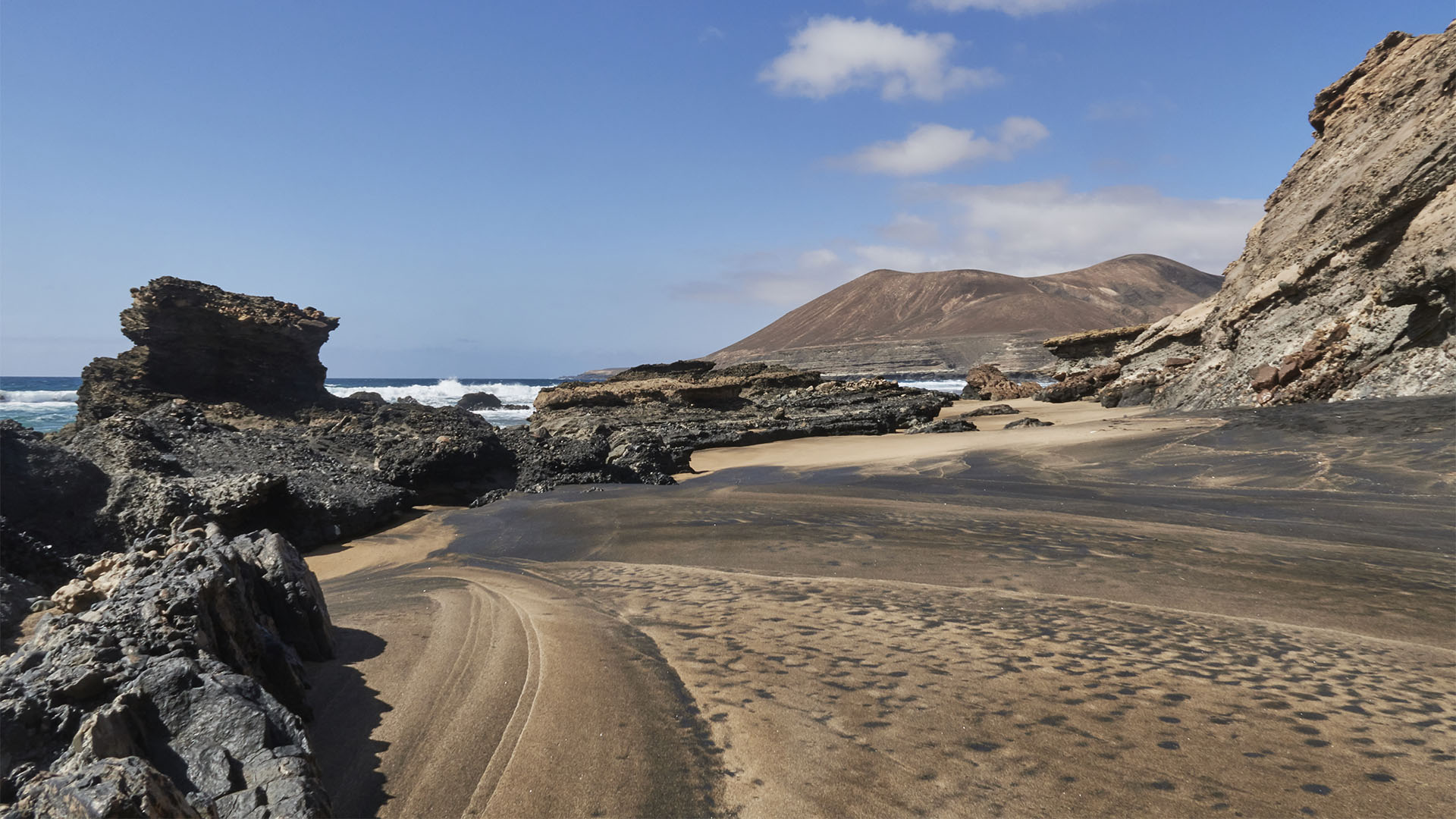 Der Strand Playa de la Solapa nahe des Ortes Pájara.