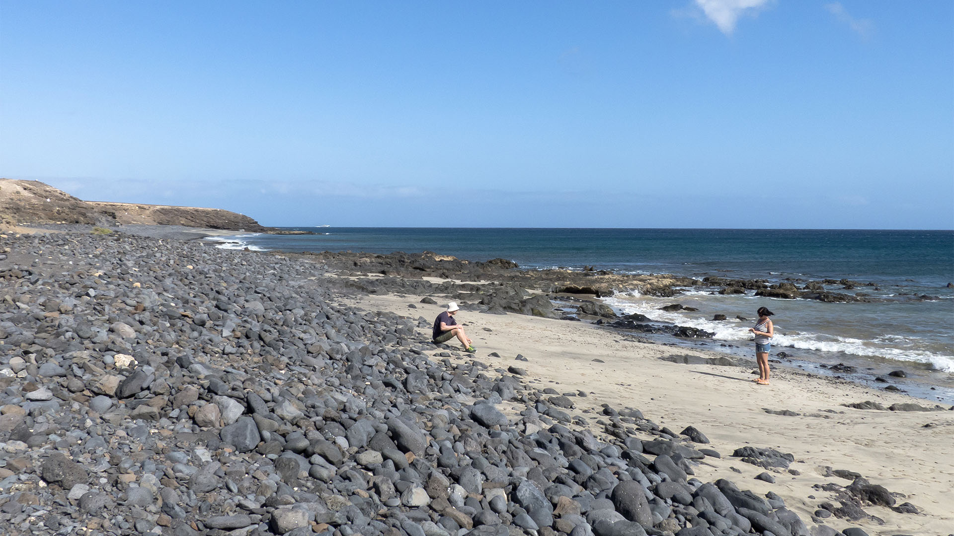 Strände Fuerteventura Ostküste: Playa de las Pilas aka Playa la Rajita.