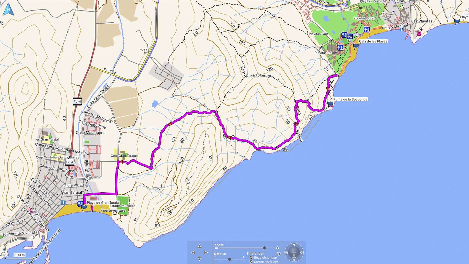 Wanderung über die Klippen von Las Playitas nach Gran Tarajal Fuerteventura.