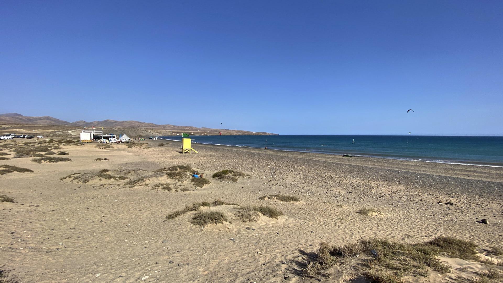 Der Strand Playas de Matas Blancas Costa Calma Fuerteventura.