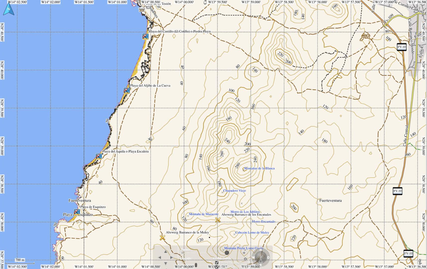 Strände El Cotillo Fuerteventura Süd.