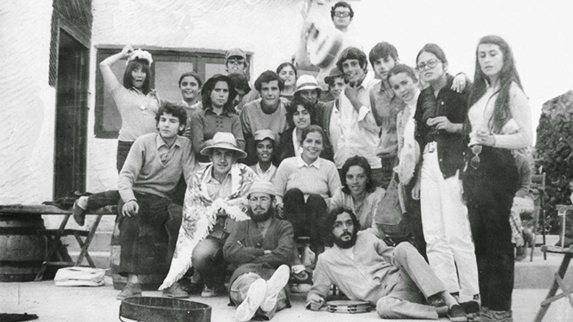 Touristen auf der Isla de Lobos Fuerteventura 1970.