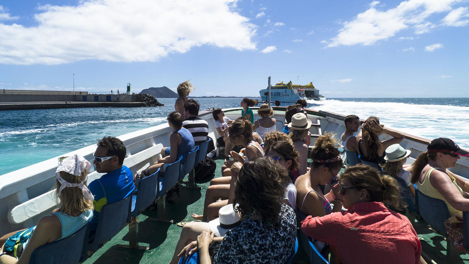 Fuerteventura entdecken – die kleine Insel Isla de Lobos vor Fuerteventura.