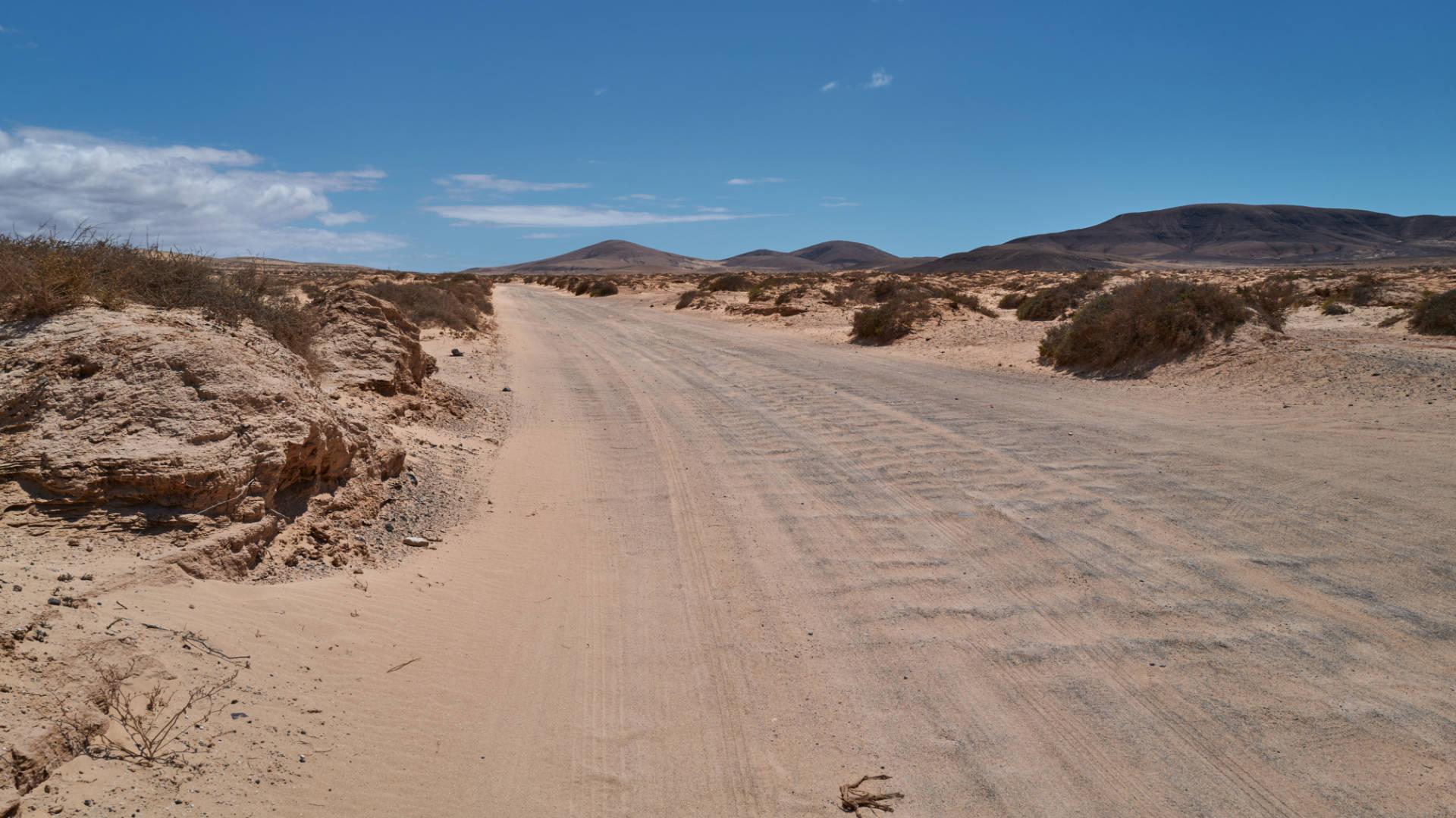 Der Cañada de Melián nahe Lajares Fuerteventura.