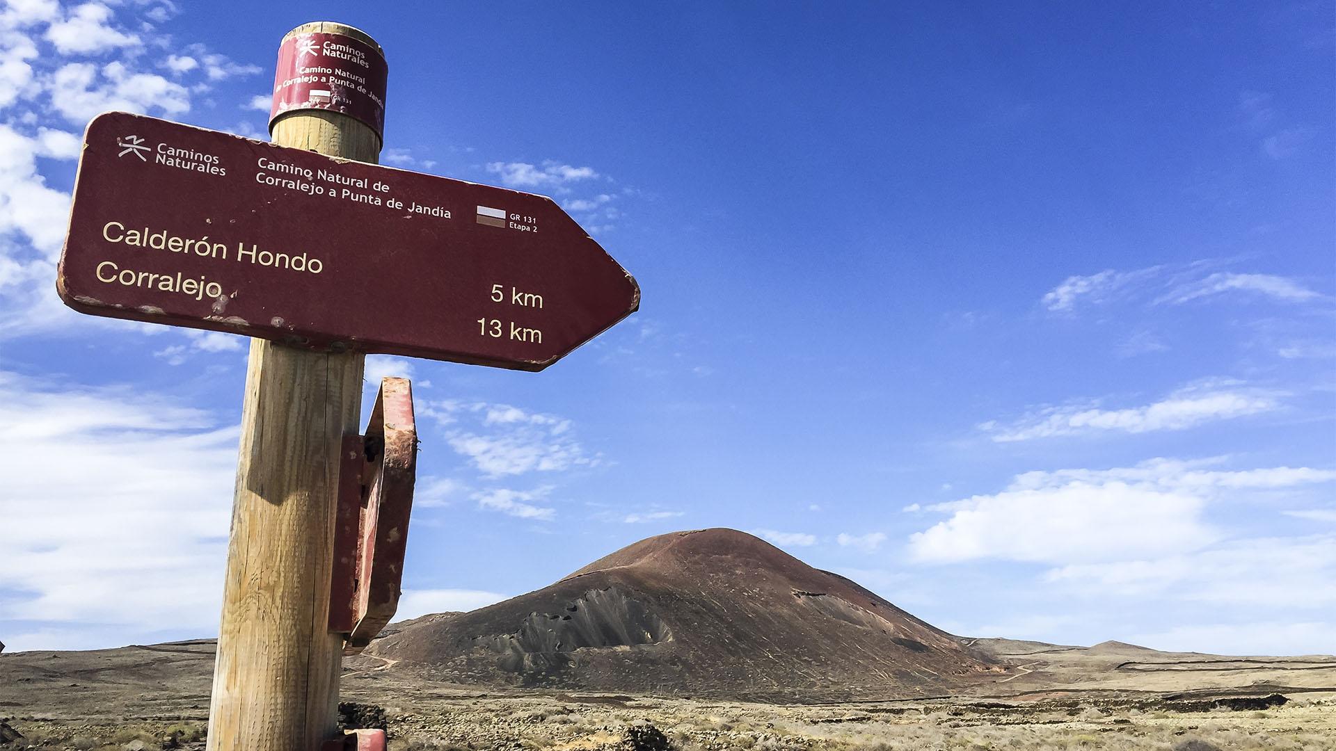 Sehenswürdigkeiten Fuerteventuras: Lajares – Calderón Hondo