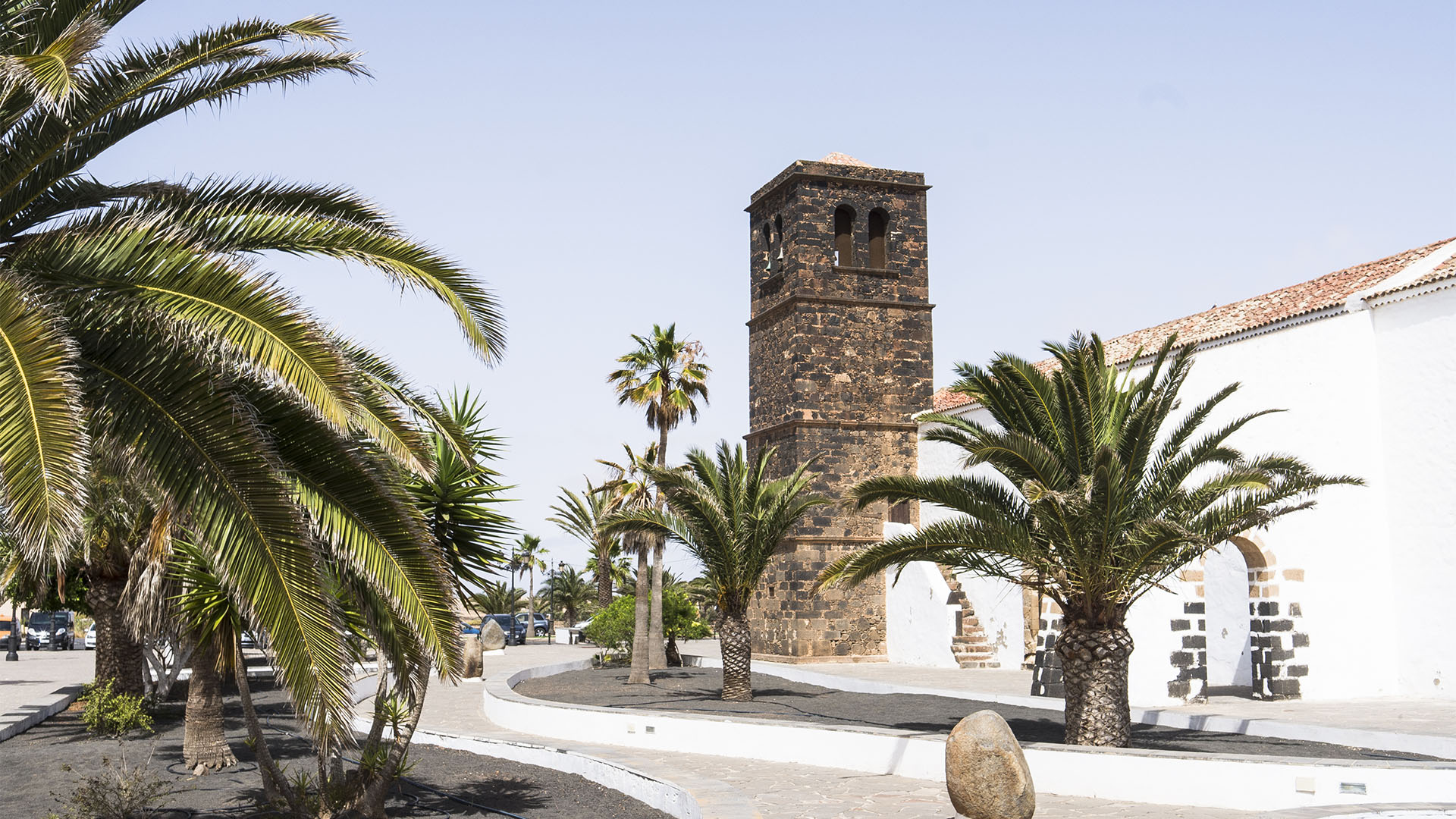 Der Ort La Oliva Fuerteventura: Die Kirche Iglesia Nuestra Señora de la Candelaria.