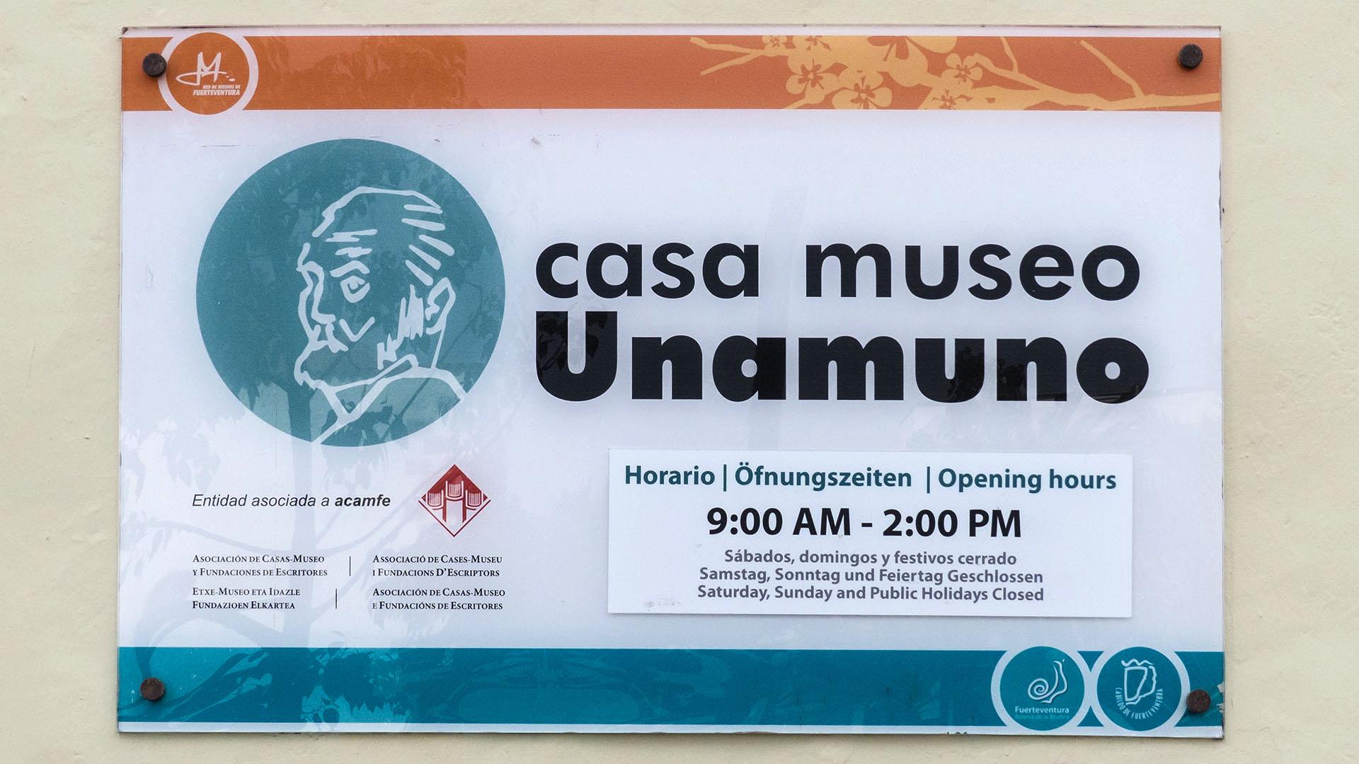 Sehenswürdigkeiten Fuerteventuras: Puerto del Rosario – Museo de Miguel de Unamuno