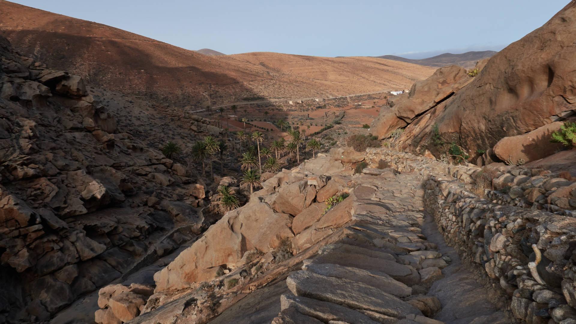 Barranco de las Peñitas bei Sonnenaufgang.