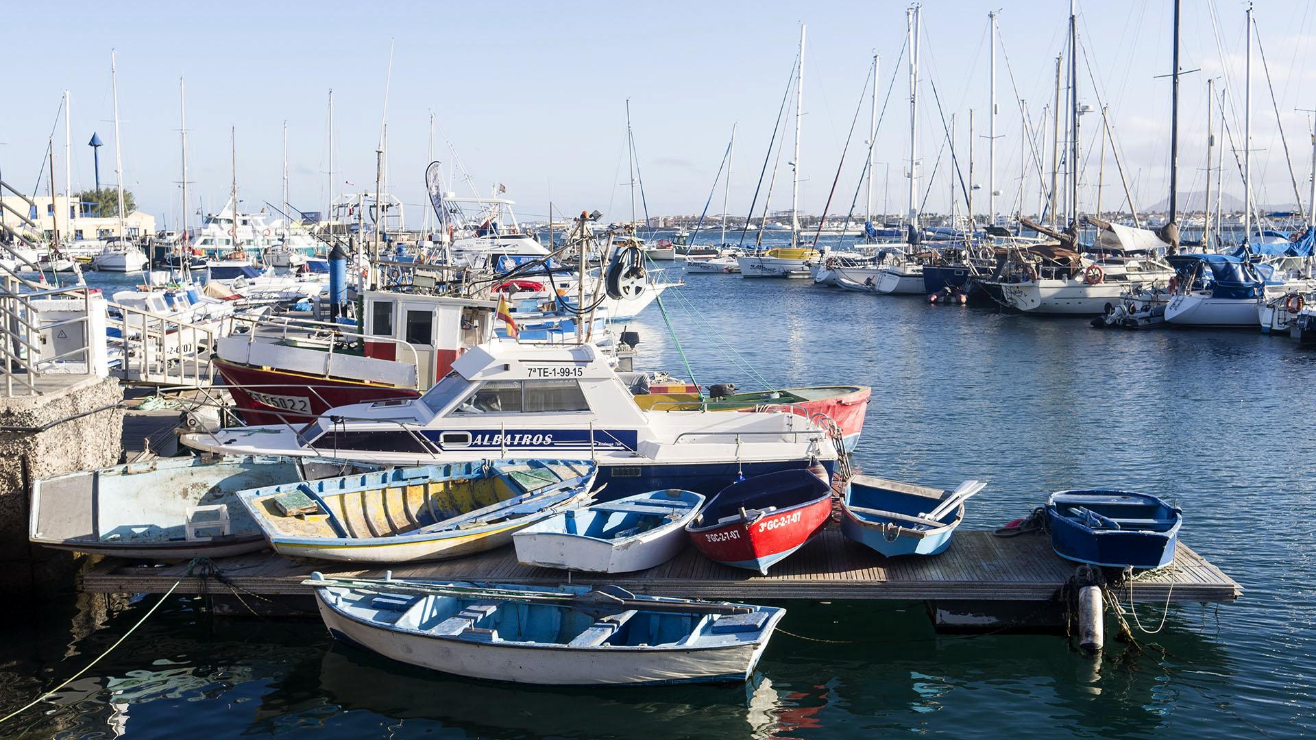 Der Ort Corralejo Fuertventura: Fährhafen