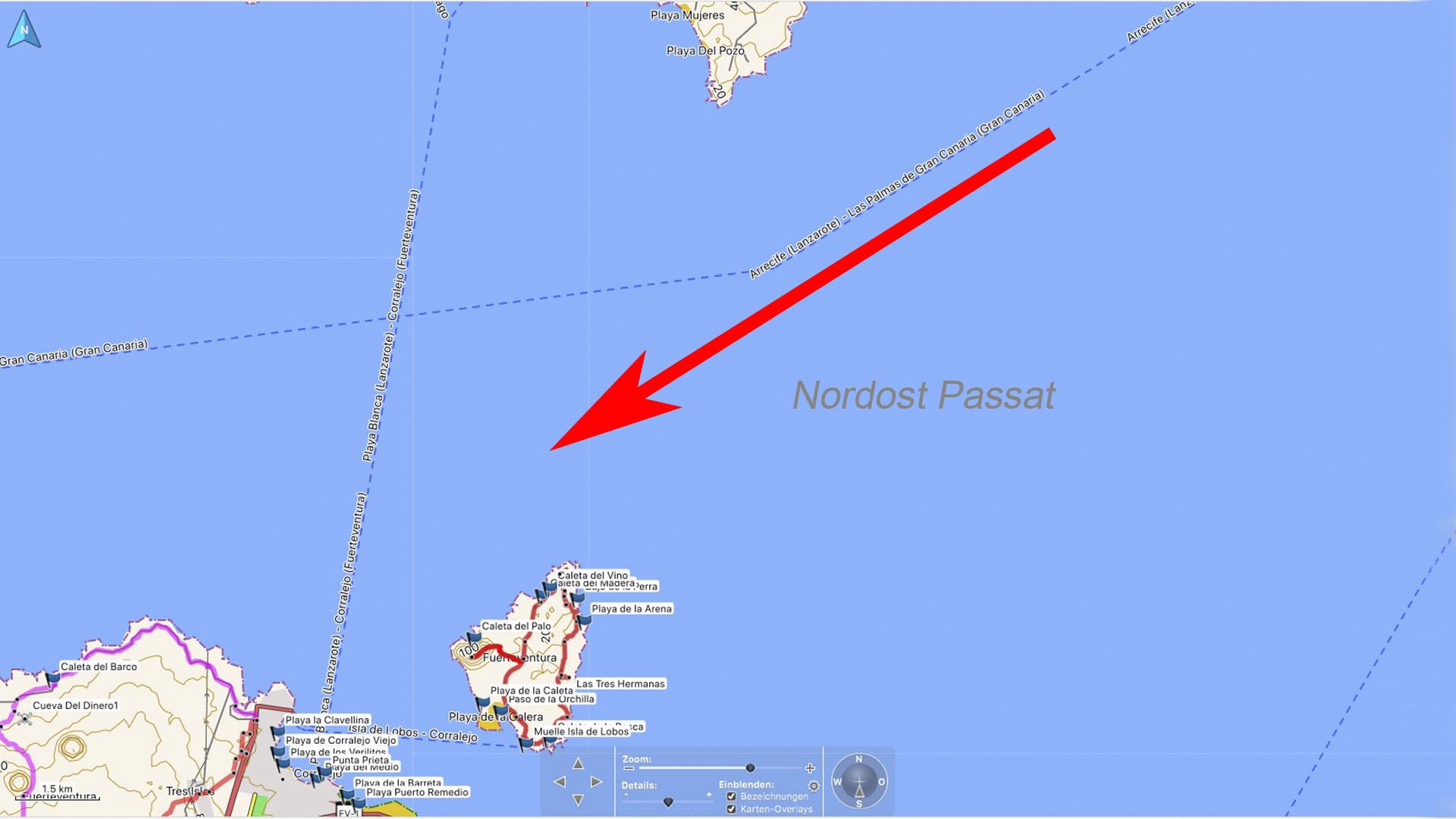 Die Windmühlen von Corralejo Fuerteventura: Der Nordost Passat trifft auf den Norden Fuerteventuras.