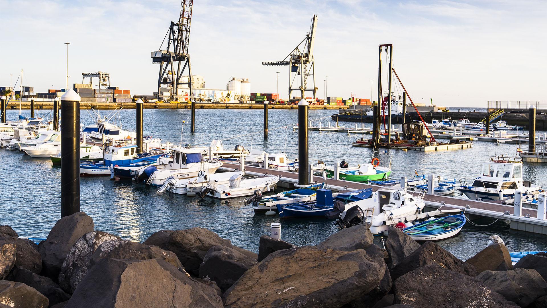 Hafen Puerto del Rosario Fuerteventura.