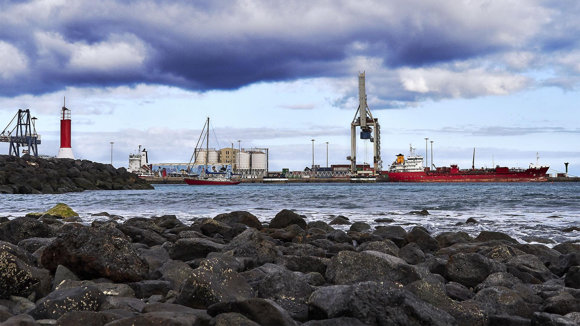 Der Hafen von Puerto del Rosario Fuerteventura.