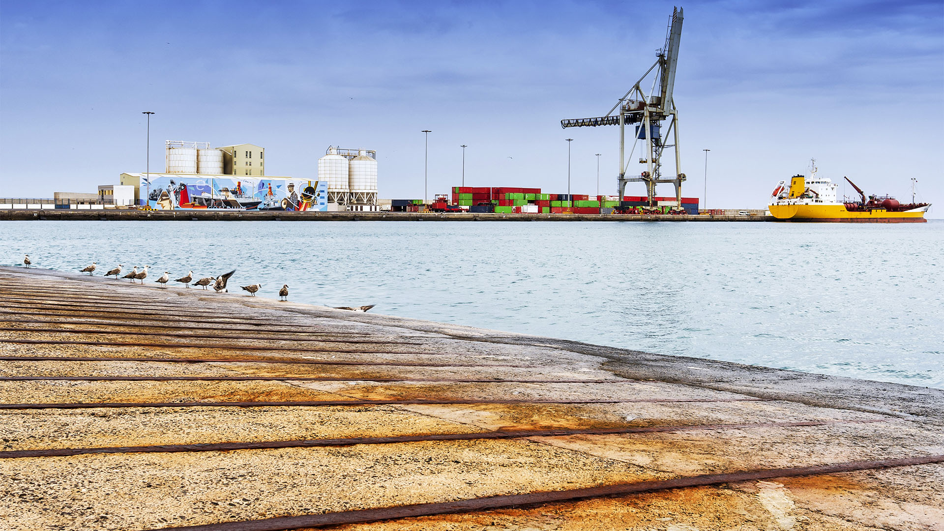 Puerto del Rosario Fuerteventura –die Handelsmole.
