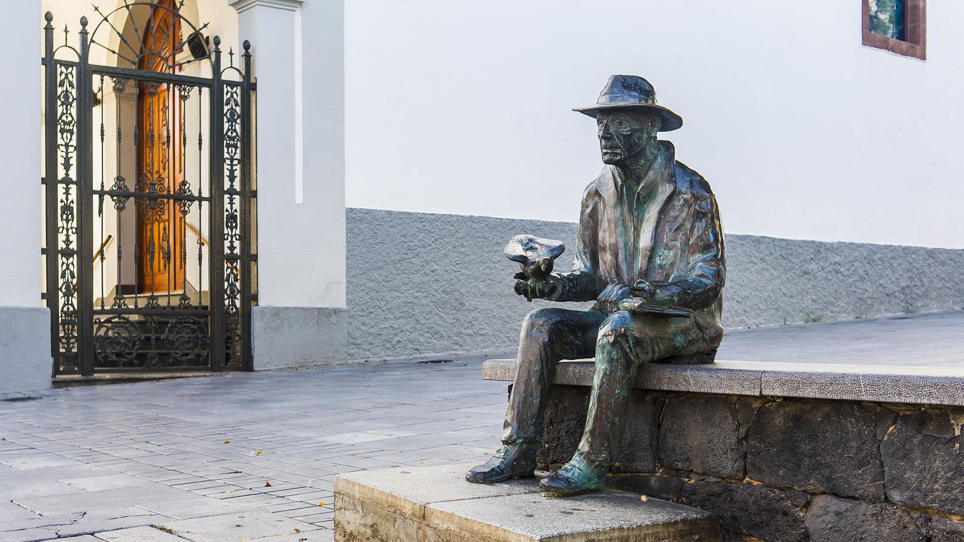 Homenaje a Suso Machín –Radiotelegrafist Spanisch Westsahara, in der Pension Maler und Schriftsteller Puerto del Rosario Fuerteventura.