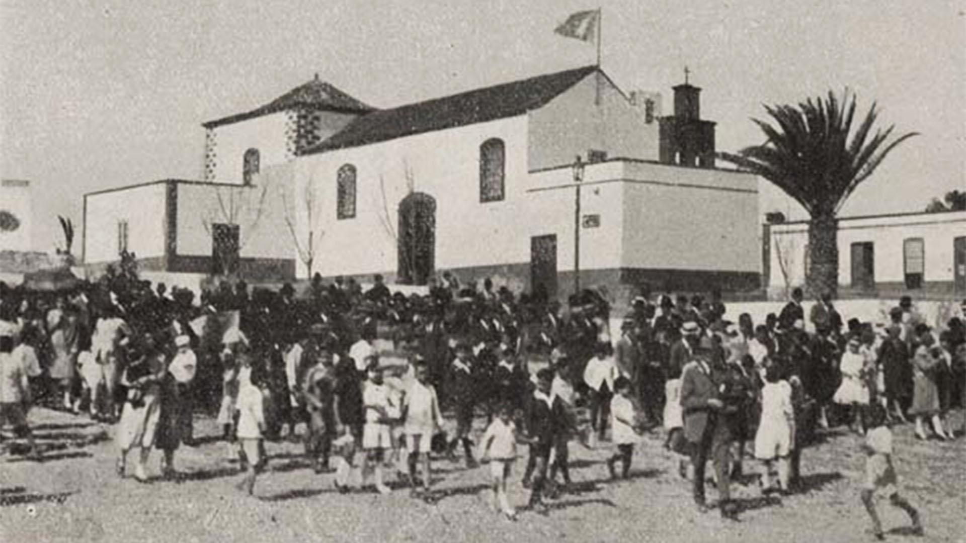 Kirche Puerto del Rosario Fuerteventura –Parroquia de Nuestra Señora del Rosario im Jahr 1920.