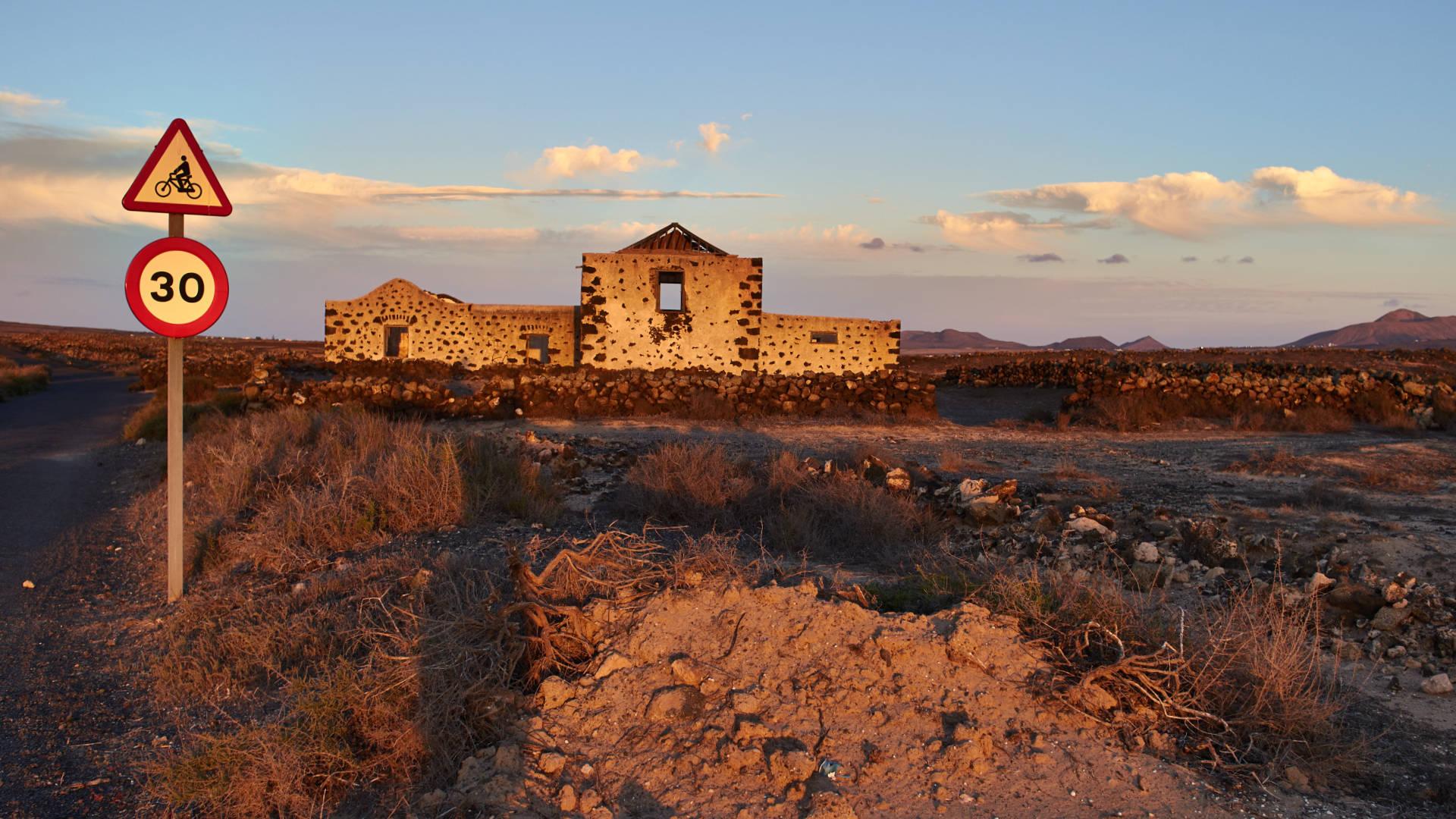 La Casa de la Costilla zwischen Lajares und El Roque Fuerteventura.