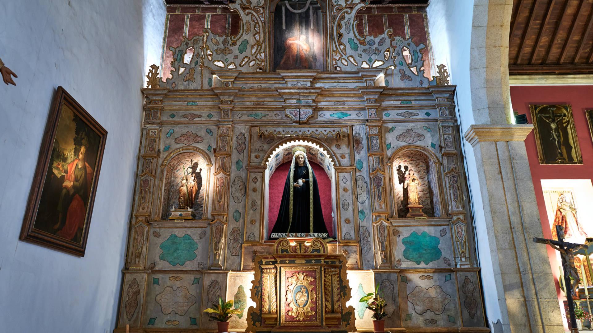 Igelsia Nuestra Señora de la Candelaria La Oliva Fuerteventura.