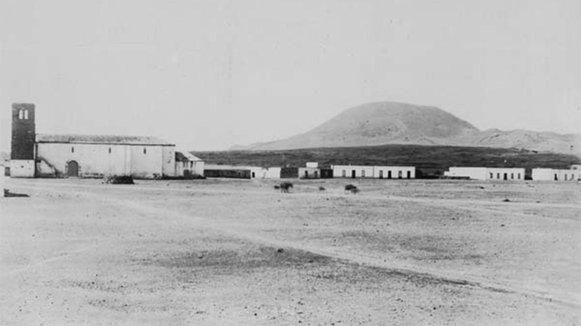 Der Ort La Oliva Fuertventura: La Oliva um das Jahr 1891.