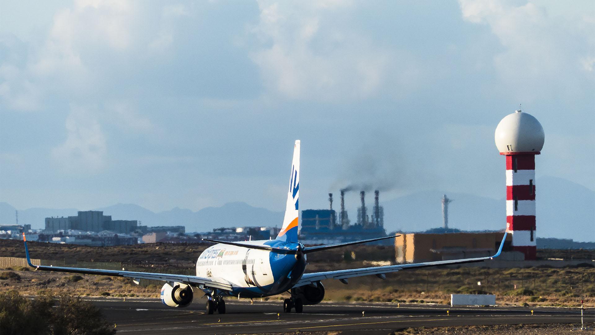 Der Flughafen El Matorral Fuerteventura.