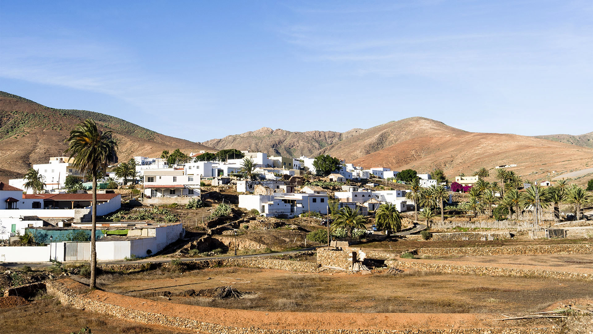 Die Ortschaft Toto nahe der Gemeindehauptstadt Pájara Fuerteventura.