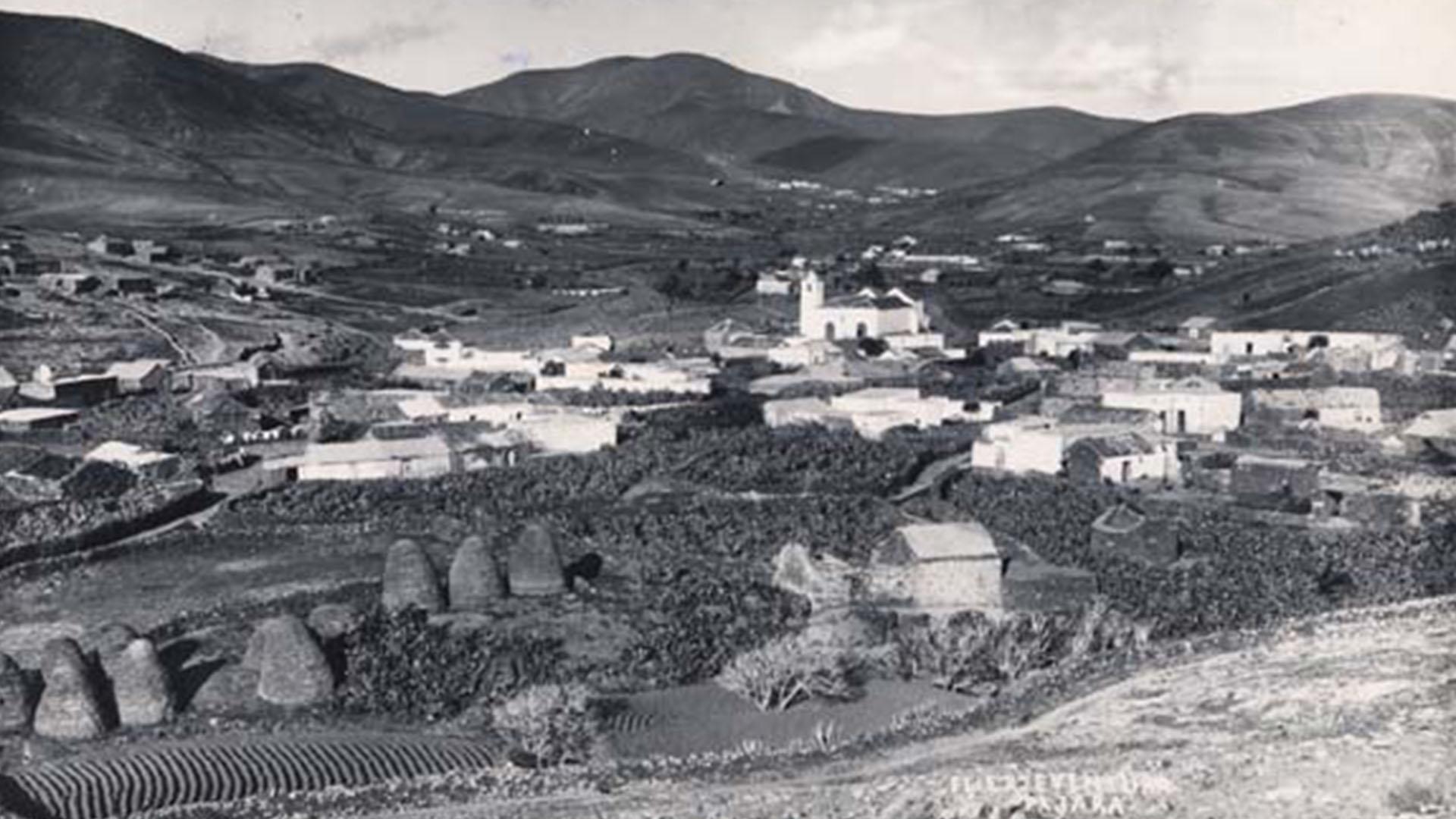 Der Ort Pájara Fuerteventura im Jahr 1890.