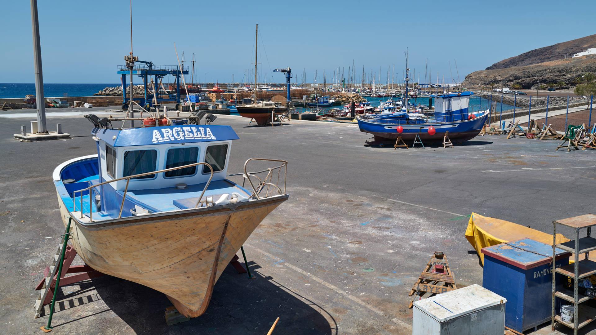 Die Stadt Gran Tarajal auf Fuerteventura.