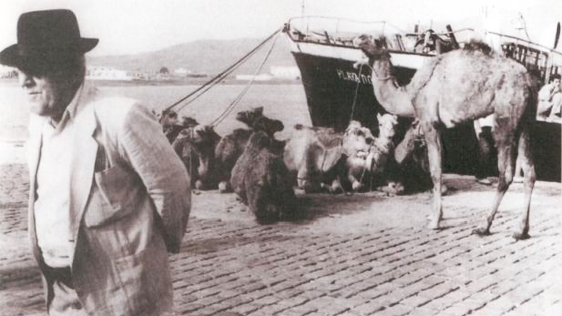 Die Mole von Gran Tarajal Fuertventura in historischen Aufnahmen - kein Jahr.