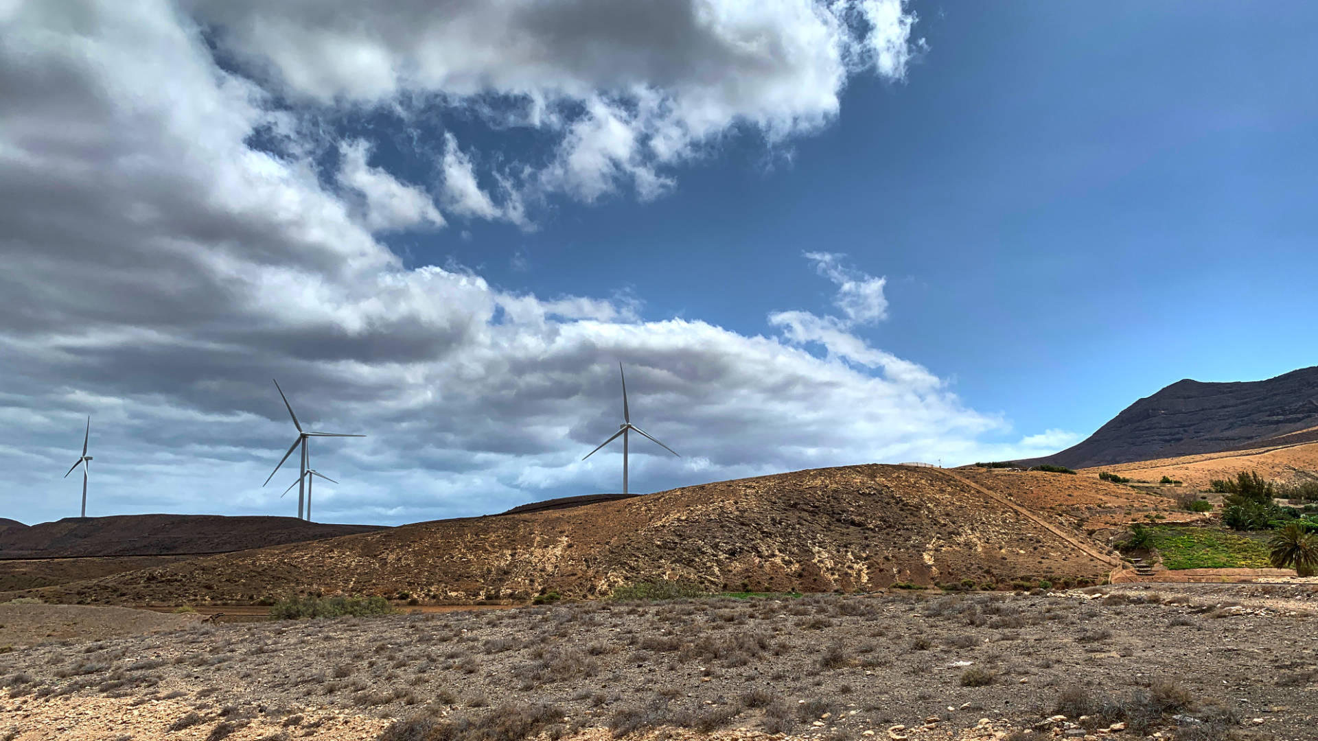 Die Windenergie Anlage bei El Cardón Fuerteventura.