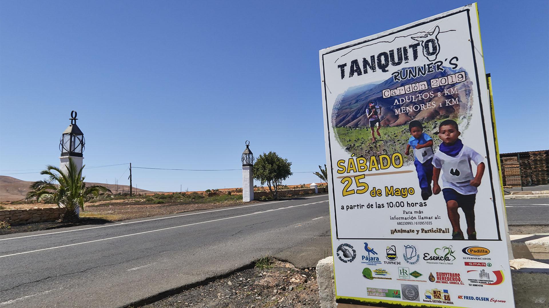 Volkslauf in El Cardón am Tag der Wallfahrt Romería El Tanquito, Fuerteventura.