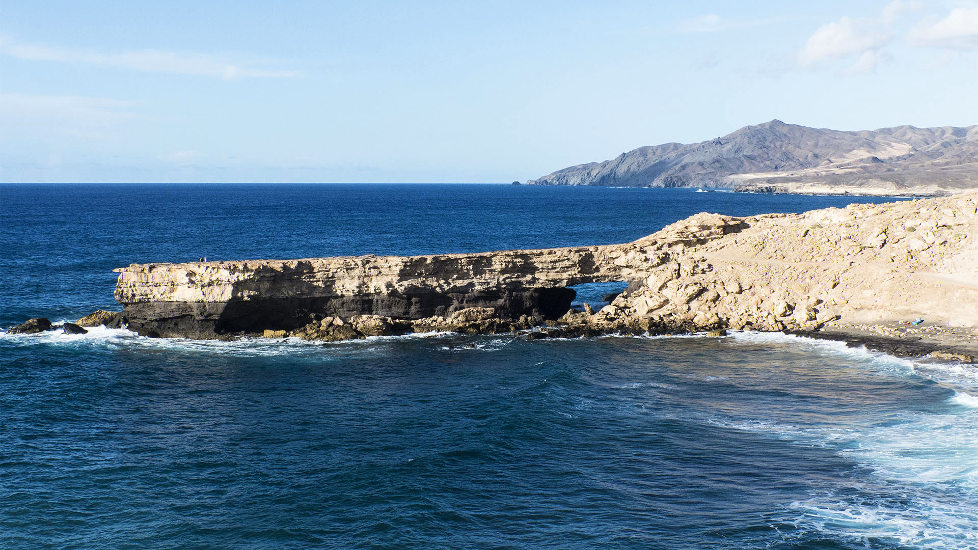 Fuerteventura Inselrundfahrt Südschleife – La Pared Punta de Guadelupe Felsentor.