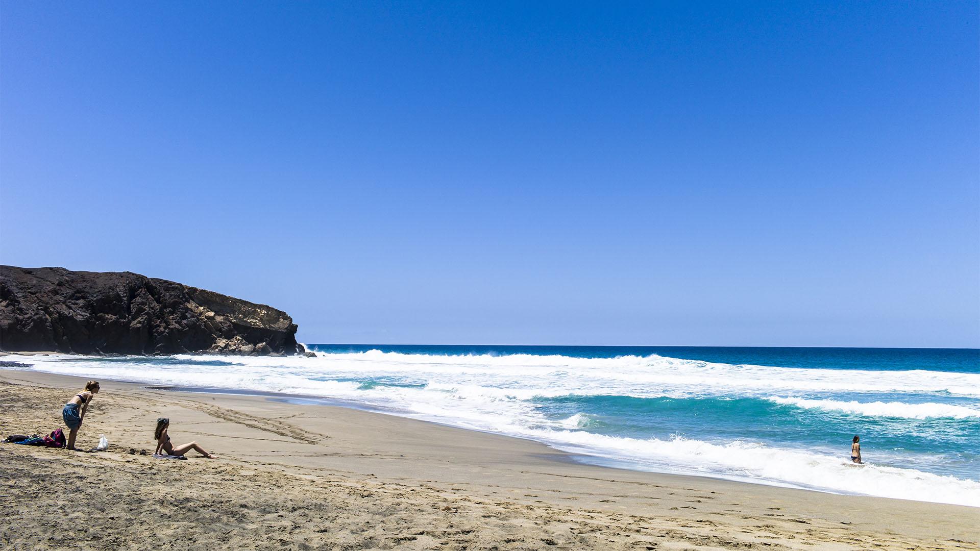 Fuerteventura Inselrundfahrt Südschleife – La Pared Playa del Viejo Rey.