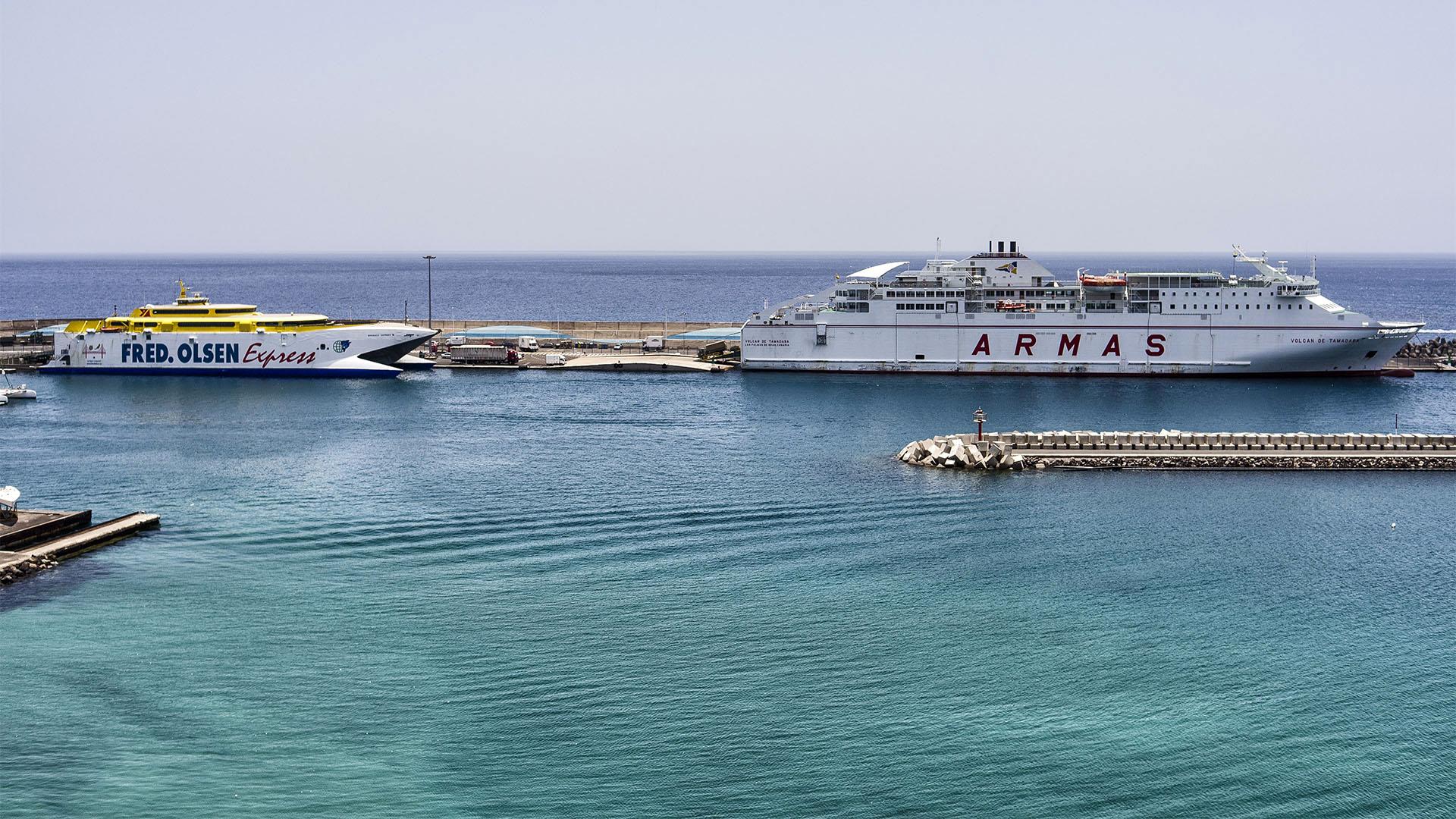 Fuerteventura Inselrundfahrt Südschleife – Morro Jable Fährhafen.