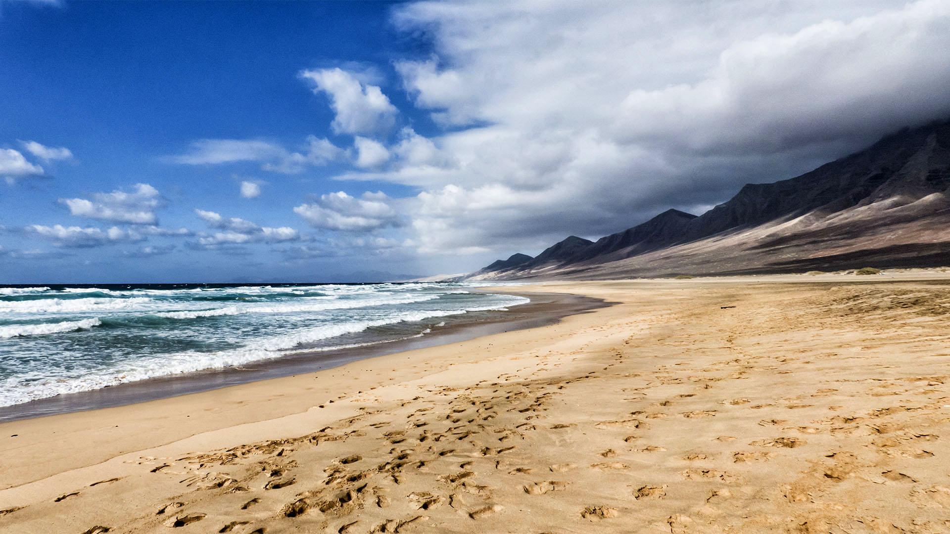 Fuerteventura Inselrundfahrt Südschleife – Playa Barlovento Cofete.