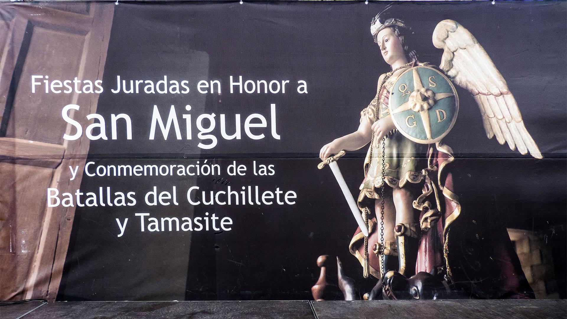 Fiestas + Wallfahrten auf Fuerteventura: Fiesta San Miguel y Batallas del Cuchillete.
