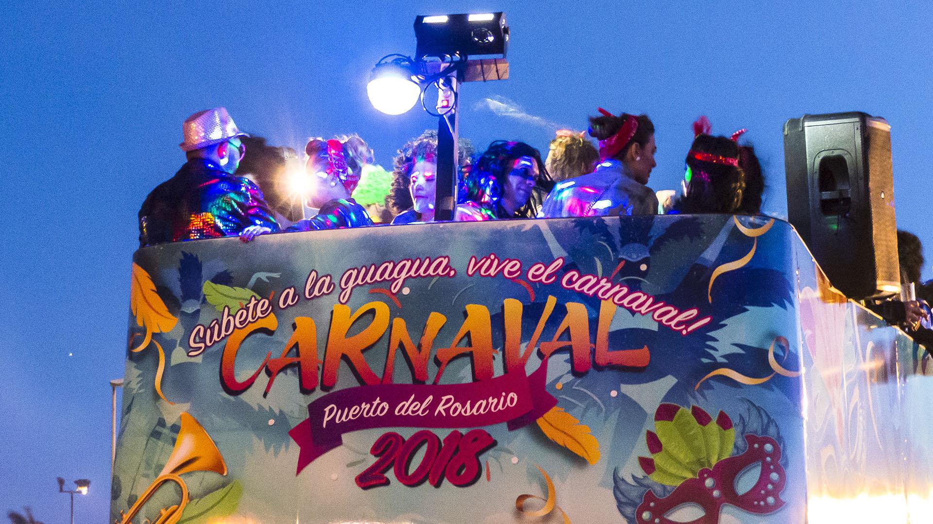 Karneval in Corralejo auf Fuerteventura.