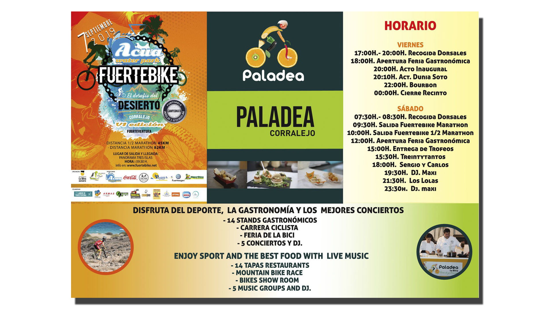 Programm Fuertebike 2019 Corralejo Fuerteventura.