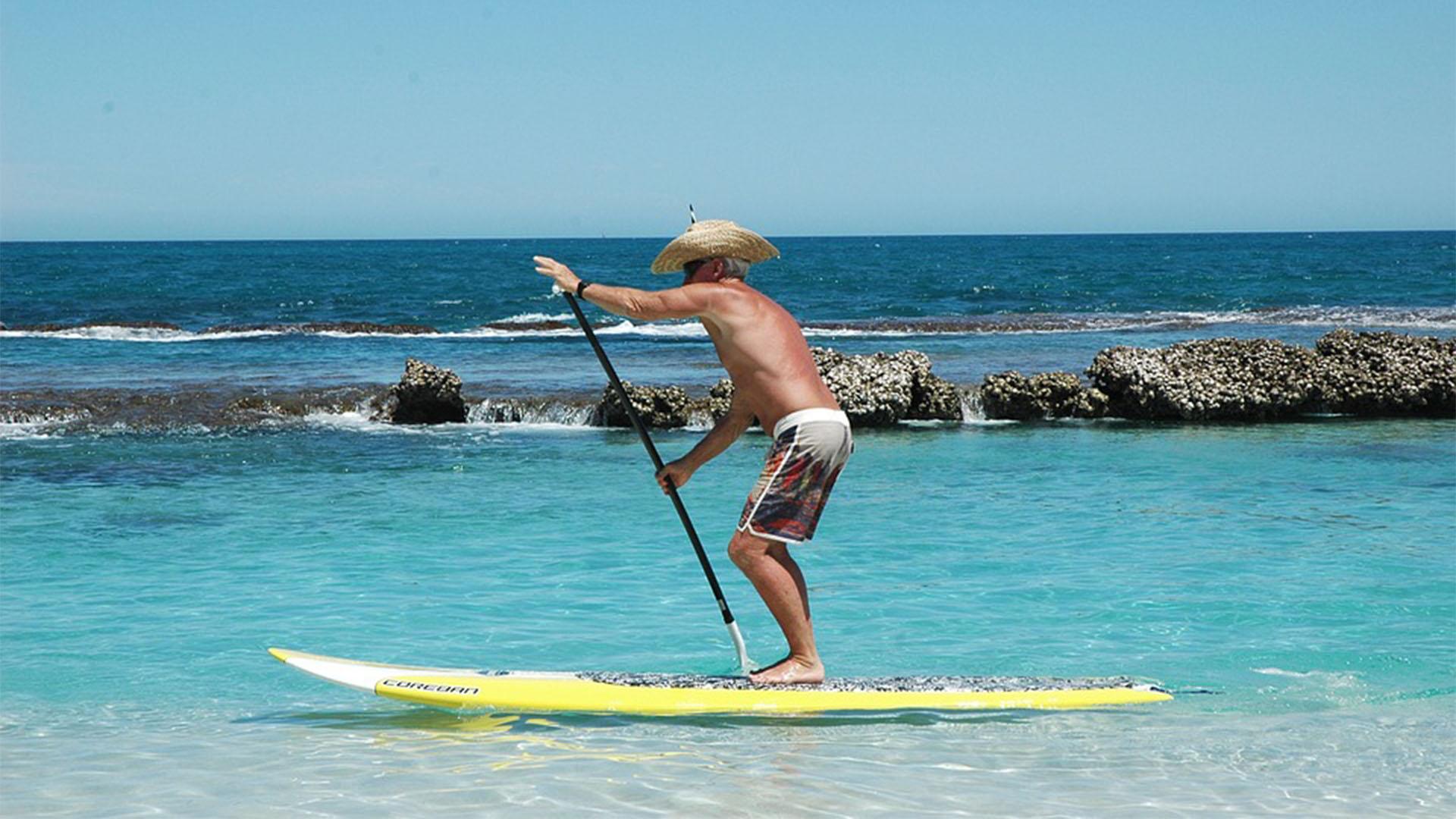 Aktivitäten Fuerteventura: SUP Stand Up Paddle.