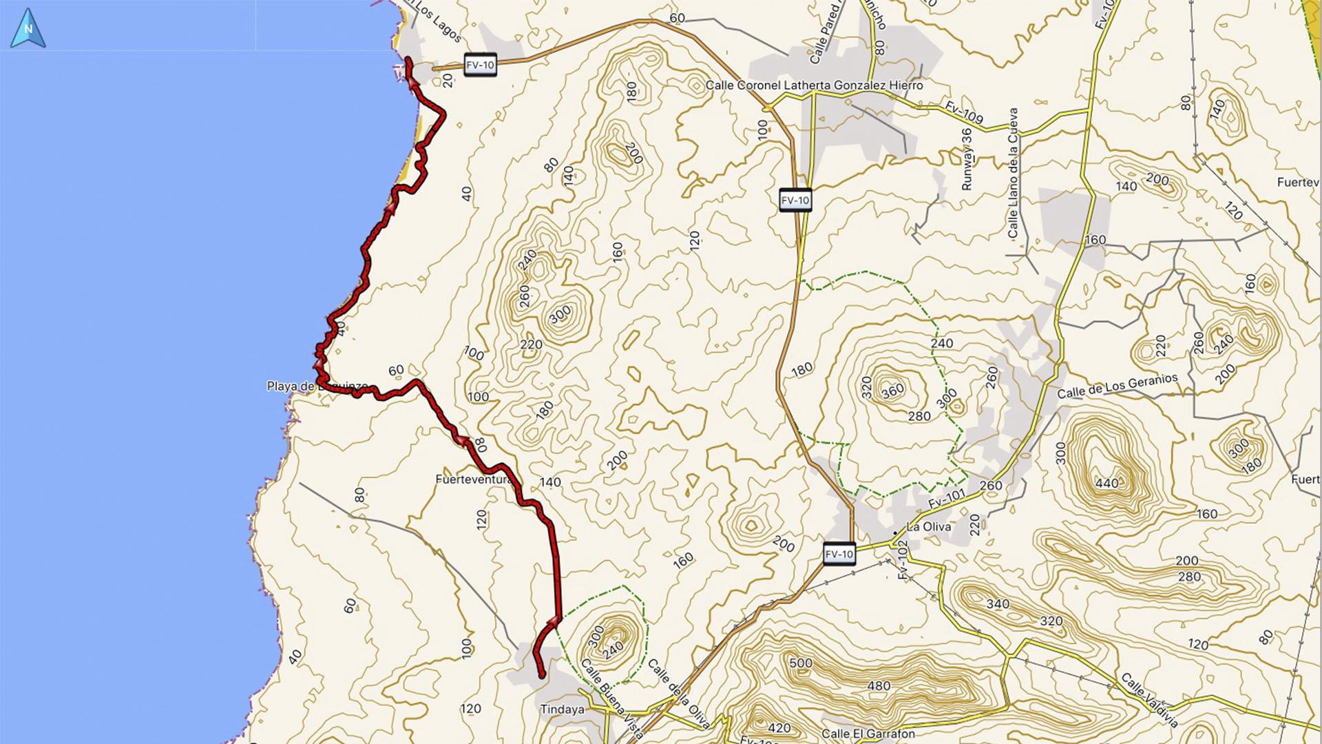 Wandern + Trekking auf Fuerteventura: Durch den Barranco Esquinzo nach El Cotillo.