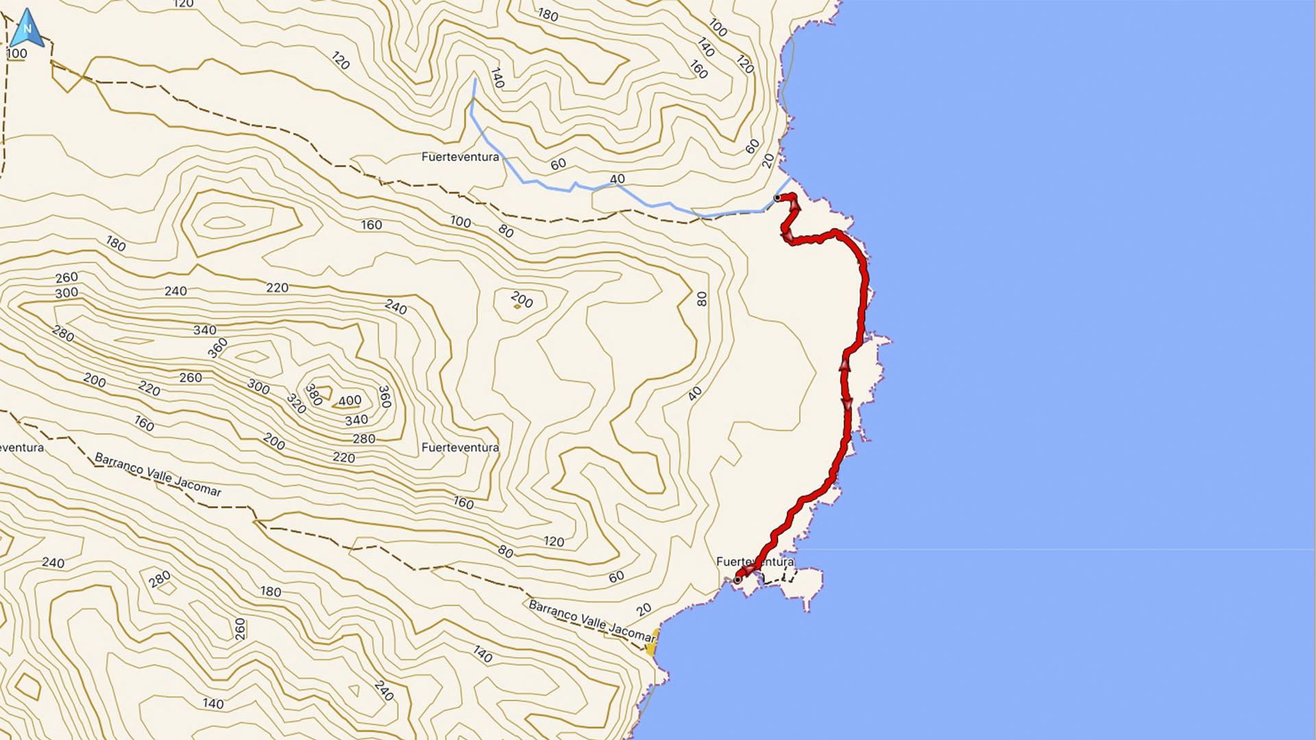 Wandern + Trekking auf Fuerteventura: Zu den Casas de Jacomar.